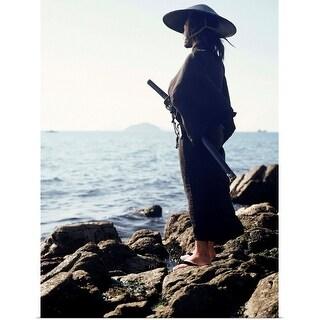 """Portrait of a Samurai warrior"" Poster Print"