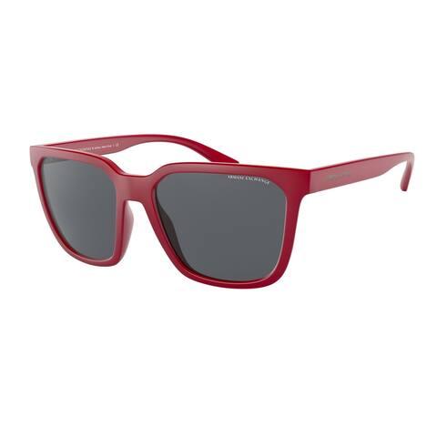 Armani Exchange AX4108S 827487 57 Matte Bordeaux Man Pillow Sunglasses