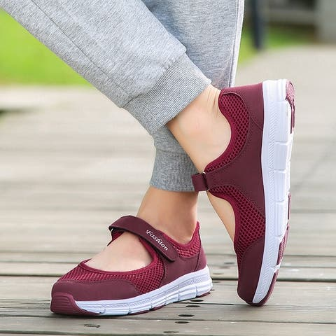 Summer Women Casual Sneakers Mesh Breathable Walking Shoes