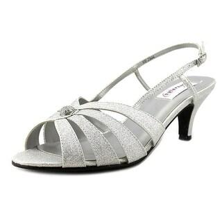 Dyeables Fiona Open-Toe Synthetic Slingback Heel