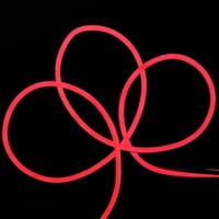 50' LED Commercial Grade Red Neon Style Flexible Christmas Rope Lights