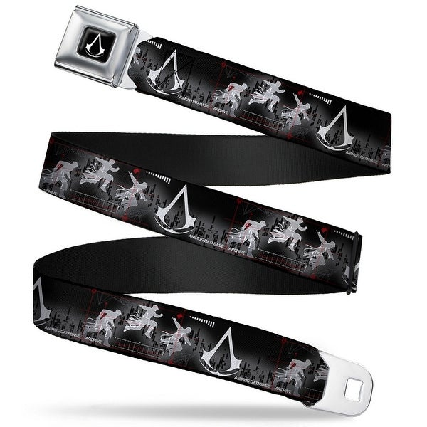 Assassin's Crest Full Color Black White Animus Database Jump Animus Logo Seatbelt Belt