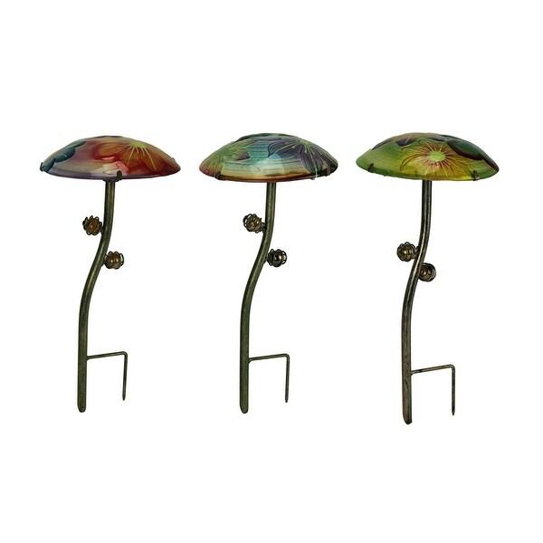 Mini 3 Inch Metal Flower Pot Stakes Set of 3