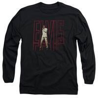 Elvis Elvis 68 Album Mens Long Sleeve Shirt