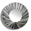 Statements2000 Silver Metal Wall Mirror Art Accent Decor by Jon Allen - Mirror 118 - Thumbnail 1