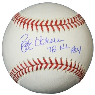 Bob Horner Rawlings Official MLB Baseball w78 NL ROY