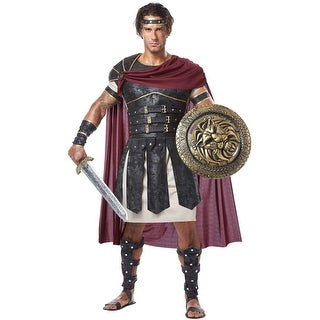 California Costumes Brave Roman Gladiator Adult Costume - Black/Red