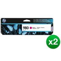 HP 980 Magenta Original Ink Cartridge (D8J08A)(2-Pack)