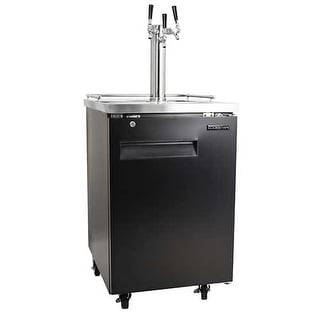 EdgeStar ECK243C 24 Inch Wide Triple Tap Kegerator with Built-In Drip Tray