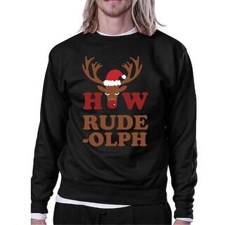 How Rudeolph Sweatshirt Cute Christmas Pullover Fleece Sweater