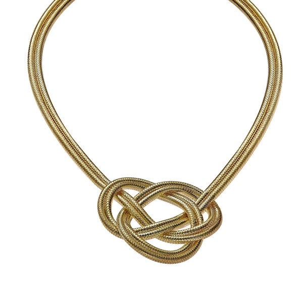 Woven Knot Necklace in 18K Gold-Plated Sterling Silver - Yellow