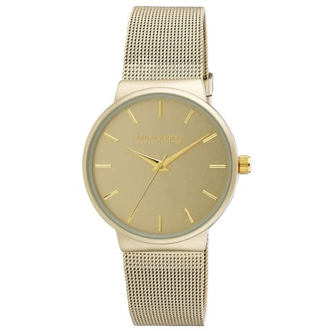 Laura Ashley Ladies Minimalist Mesh Band Watch- 4 Colors Available