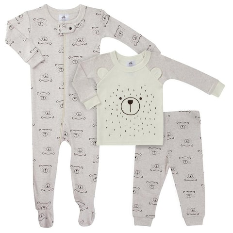Just Born Bear 3-Piece Pajama Set