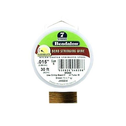 "Beadalon Bead Wire 7Strand .015"" Bronze Color 30'"