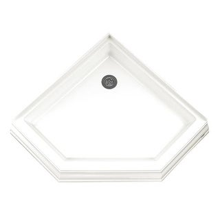 """American Standard 3838.NEOTS Town Square 38"""" X 38"""" Reinforced Acrylic Shower Pan - Triple threshold, Rear Drain"""