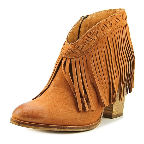 Seychelles World Tour Women Round Toe Leather Bronze Ankle Boot