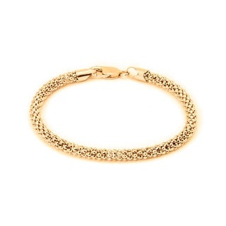 Link to Pori Jewelers 18K Gold ptd Sterling Silver Popcorn Chain Bracelet Similar Items in Bracelets