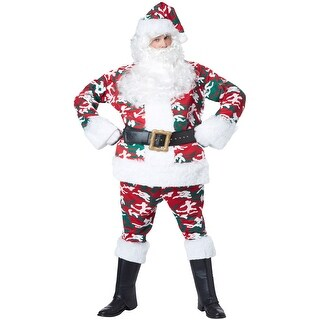 California Costumes Camo Santa Suit Adult Costume - Red/Green