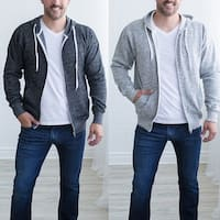Casual Men Thicken Warm Winter Zip Up Hoodie Cardigan Sports Long Sleeve Coat