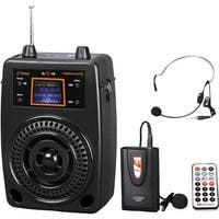 Portable PA Speaker System, Microphone & Music Player, FM