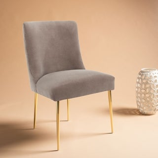 Safavieh Couture Nolita Velvet Accent Chair - Mouse / Brass