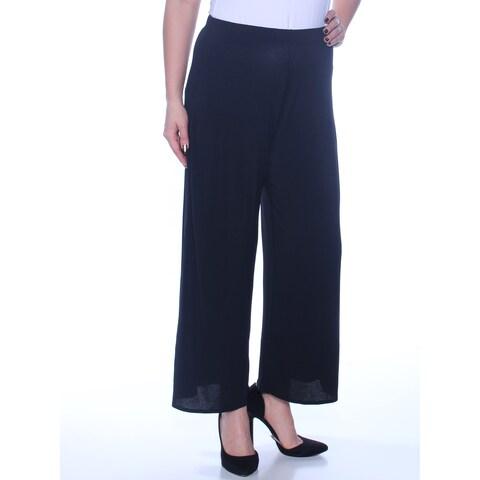 KENSIE Womens Black Wide Leg Wear To Work Pants Size: L