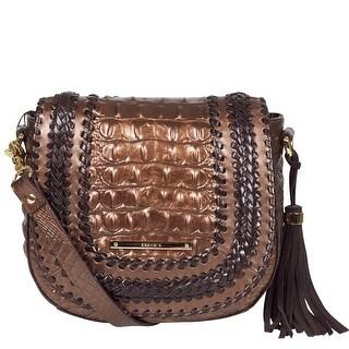 Brahmin Mini Sonny Leather Shoulder Handbag in Patina Palermo