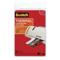 Scotch Thermal Laminating Pouch, 4 x 6 Inches, 5 mil Thickness, Pack of 20