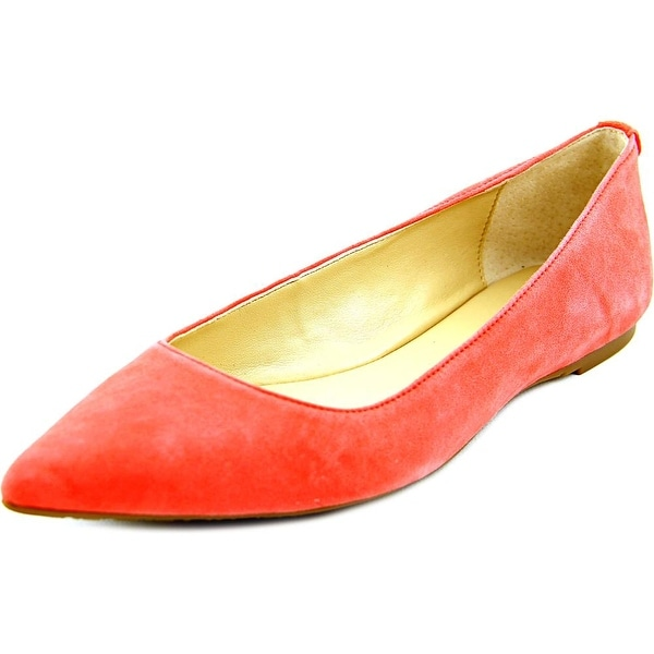 Michael Michael Kors Arianna Flat Women  Pointed Toe Suede Orange Flats