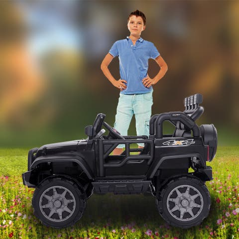 "12V Kids Ride On Car Toy Jeep Rechargeable Battery4 mph Remote Control - 7'6"" x 9'6"""