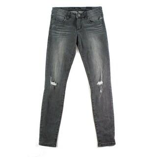 STS Blue NEW Gray Women's Size 27X29 Slim Skinny Distressed Jeans