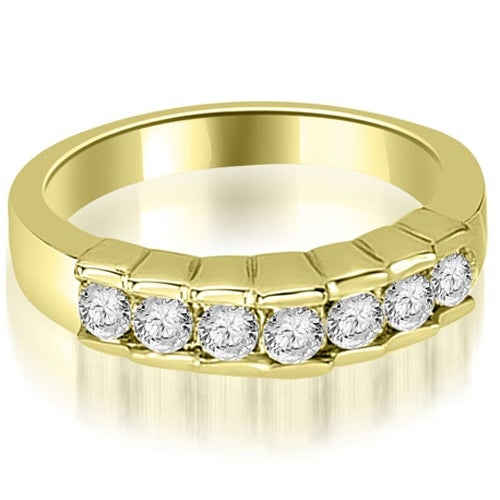0.55 cttw. 14K Yellow Gold Round Cut Diamond Wedding Band