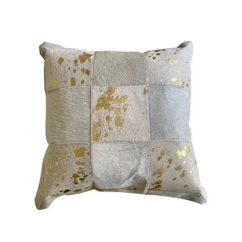 Flynn Throw Pillow Ivory/Gold