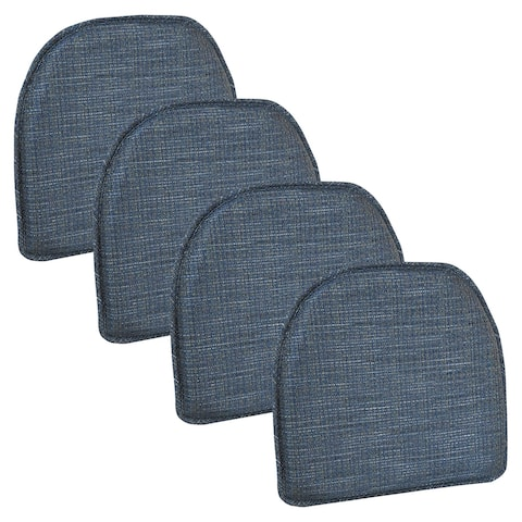 "Gripper Kahuna Non-Slip Blue Chair Cushions, 15"" x 16"" Set of 4"