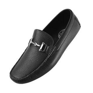 Amali Men's Classic Driving Shoe in Pebble Grain