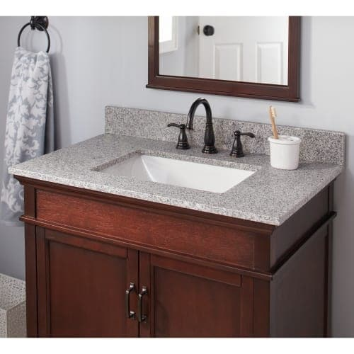 Miseno Mtop 3722 Tr 37 Granite Vanity Top With 4 Backsplash Sink Included Free Shipping Today 26988495