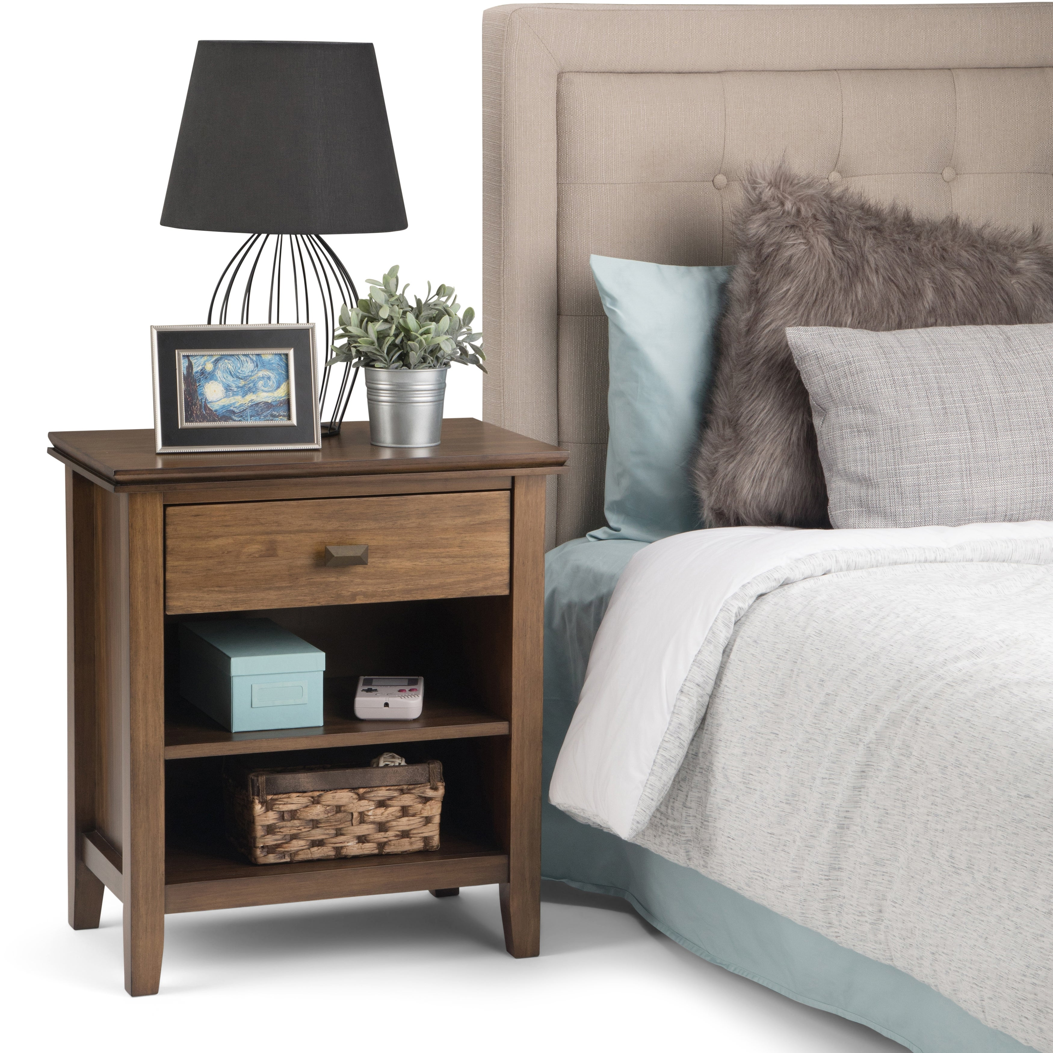Wyndenhall Stratford Solid Wood 24 Inch Wide Contemporary Bedside Nightstand Table On Sale Overstock 10581728