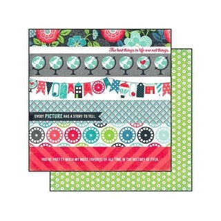 Echo Park We Are Family Paper 12x12 Border Strips