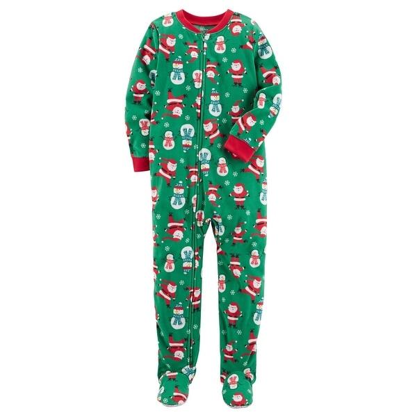 carters little boys 1 piece christmas fleece pajamas