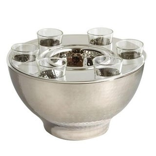 Leeber 72570 Hammered Vodka Bowl with Caviar Set