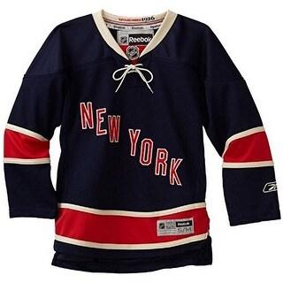 Reebok Boys New York Rangers Alternate Premier Jersey - Black