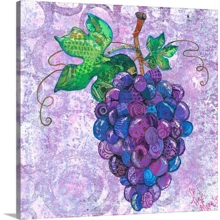 """Grapes"" Canvas Wall Art"