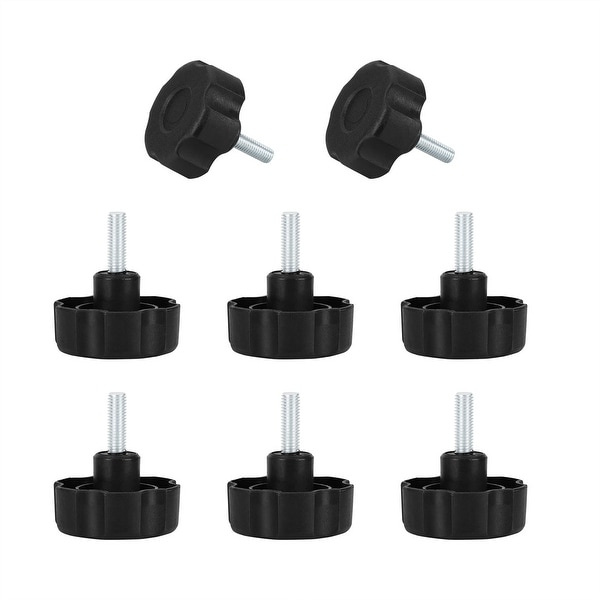M8 x 25 x 53mm Hand-screw Leveling Feet Adjustable Leveler Floor Protector for House Furniture Desk Table Chair Leg 8pcs