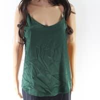 ShyVelvet Green Women's Size Medium M V-Neck Satin Tank Cami Top