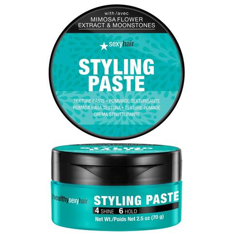SexyHair Healthy Styling Paste Texture Paste Medium, Pliable Hold and Control Satin Finish All Hair Types 2.5 Oz