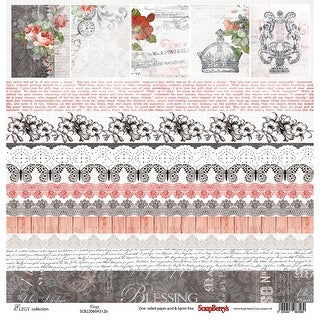 "Scrapberry's Elegy Single-Sided Cardstock 12""X12""-Elegy"