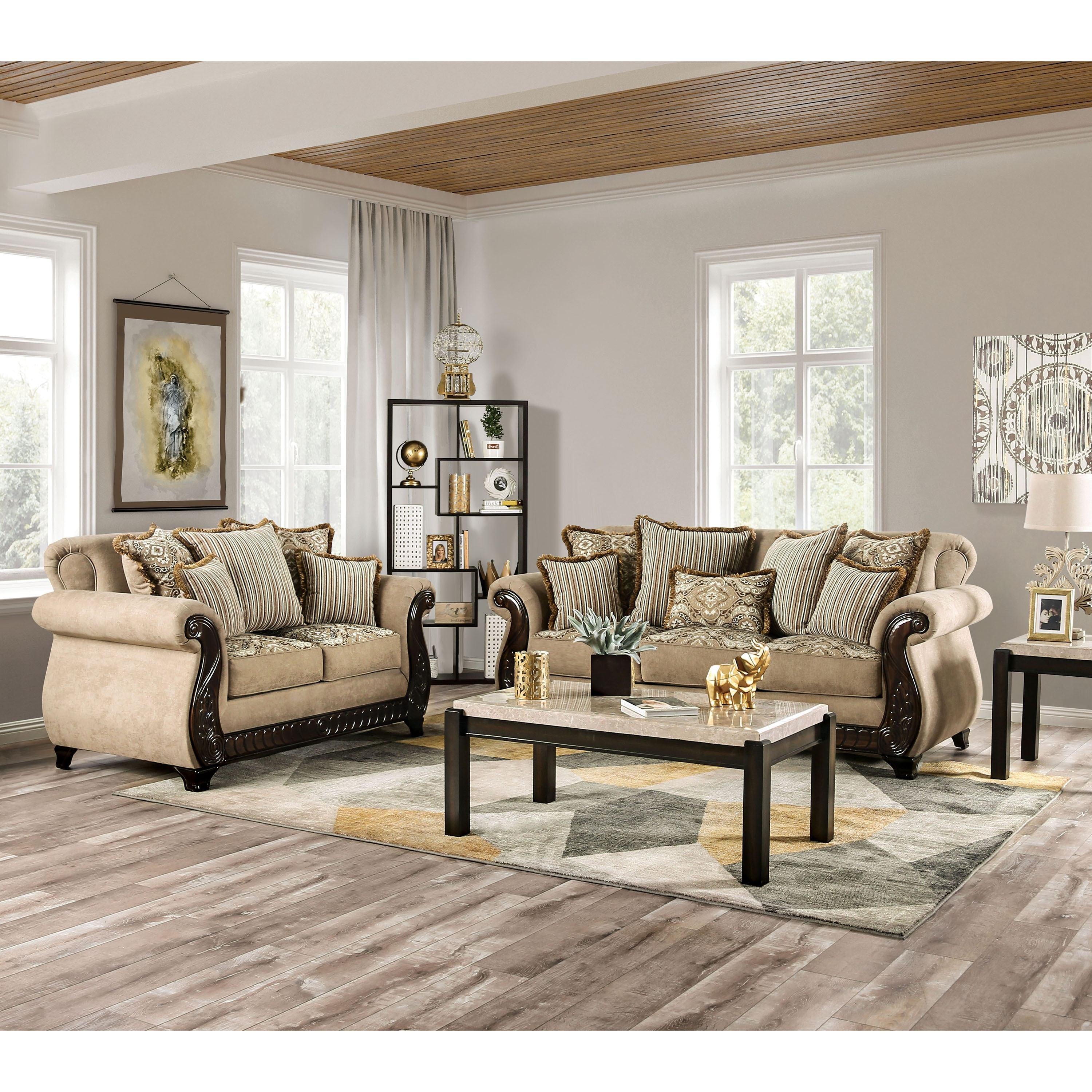Furniture of America Nillie Traditional 5-piece Living Room Set