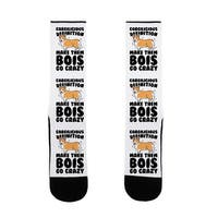 LookHUMAN Corgilicious Parody US Size 7-13 Socks