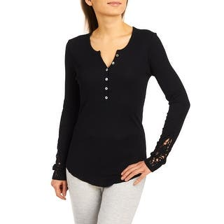 PJ Salvage Lounge Essentials Long Sleeve Rib Top - Black|https://ak1.ostkcdn.com/images/products/is/images/direct/26fc4e93db6da5d31a4fe5532de3b4c5f9aef41d/PJ-Salvage-Lounge-Essentials-Long-Sleeve-Rib-Top---Black.jpg?impolicy=medium