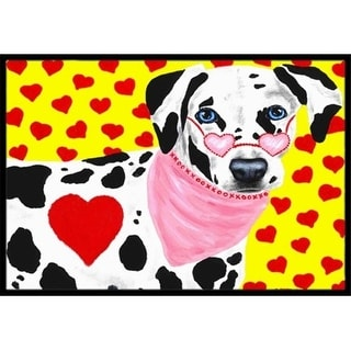 Carolines Treasures AMB1116MAT Hearts & Dalmatian Indoor or Outdoor Mat 18 x 27
